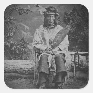 Sioux Chief Medicine Bear Vintage Square Sticker