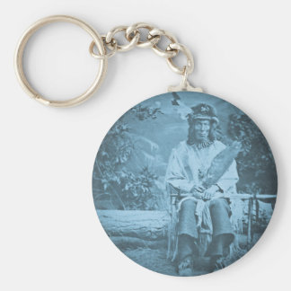 Sioux Chief Medicine Bear Vintage Stereoview Keychain