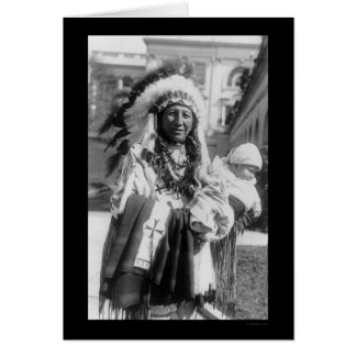 Sioux Chief Spotted Crow and Baby 1929 Card