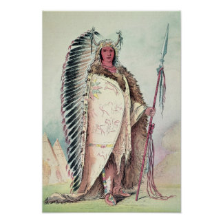 Sioux chief, 'The Black Rock' Poster