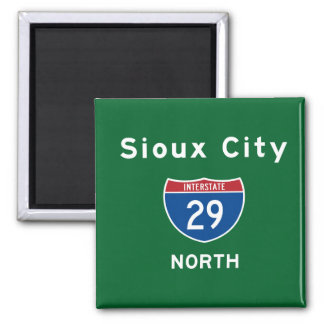 Sioux City 29 2 Inch Square Magnet