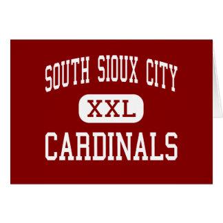 Sioux City del sur - cardenales - Sioux City del s Tarjeta De Felicitación