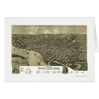 Sioux City, IA Panoramic Map - 1888 Card
