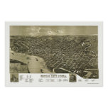 Sioux City, IA Panoramic Map - 1888 Poster