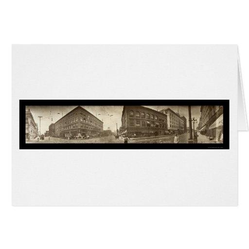 Sioux City IA Street Photo 1911 Cards