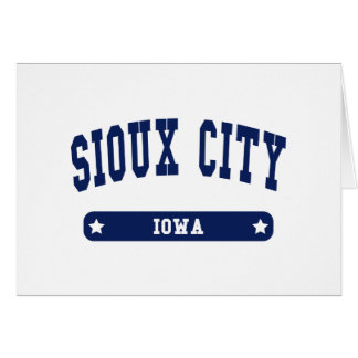 Sioux City Iowa College Style tee shirts Cards