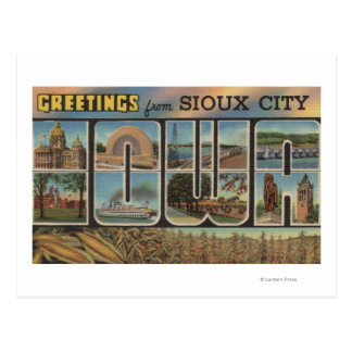 Sioux City, Iowa - Large Letter Scenes 2 Postcard