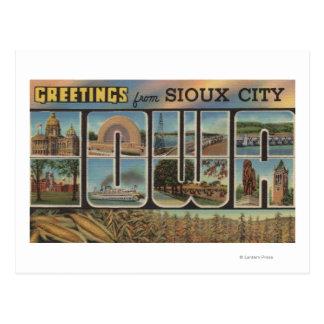 Sioux City, Iowa - Large Letter Scenes 2 Postcard