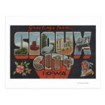 Sioux City, Iowa - Large Letter Scenes Postcards