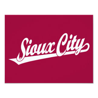 Sioux City script logo in white Card