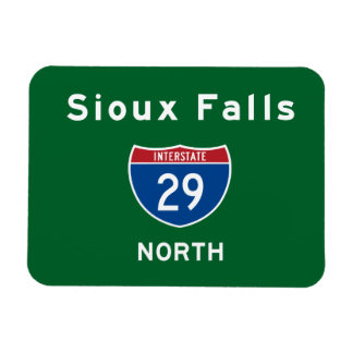 Sioux Falls 29 Rectangle Magnets