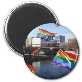 Sioux Falls Flying Pride Refrigerator Magnet