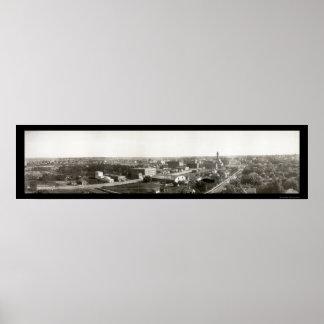 Sioux Falls, foto 1907 del SD Póster