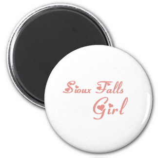 Sioux Falls Girl tee shirts Magnets