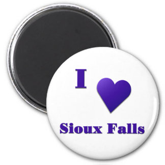 Sioux Falls -- Midnight Blue Fridge Magnet
