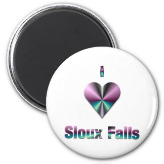 Sioux Falls -- Purple & Turquoise Fridge Magnet