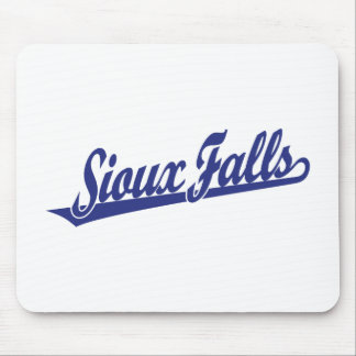Sioux Falls script logo in blue Mouse Pad