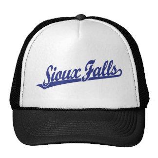Sioux Falls script logo in blue Trucker Hat