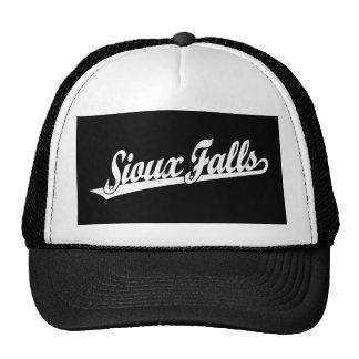 Sioux Falls script logo in white Trucker Hat
