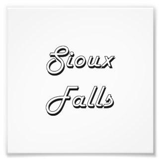Sioux Falls South Dakota Classic Retro Design Photo Print