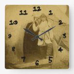 Sioux Hunter with Bow by Tee Pee Wallclock