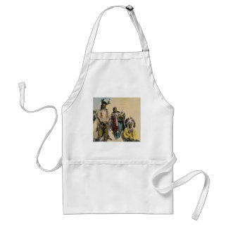 Sioux Indian Grey Eagle and Family Stereoview Adult Apron