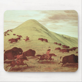 Sioux Indians hunting buffalo 1835 oil on canvas Mouse Pad