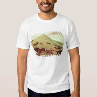 Sioux Indians hunting buffalo, 1835 (oil on canvas T-Shirt