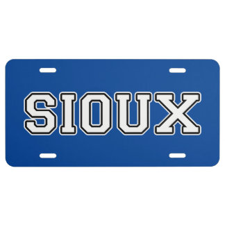 Sioux License Plate