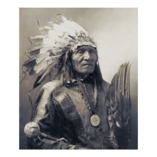 SIOUX NATION CHIEF HE DOG  c. 1900 Poster