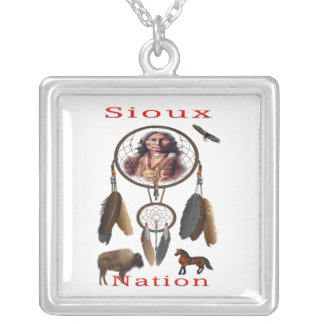 Sioux Nation mercnandise Silver Plated Necklace