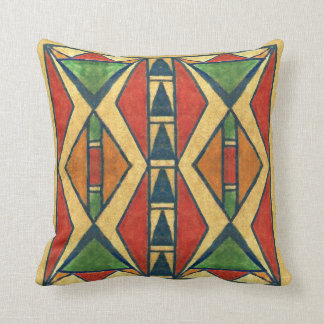 Sioux style 1860's parfleche design throw pillow