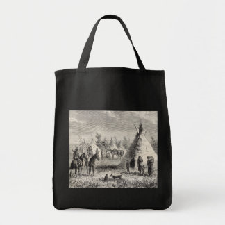 Sioux Village, circa 1876 Tote Bags
