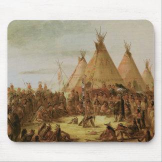 Sioux War Council Mouse Pad