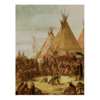 Sioux War Council Postcard