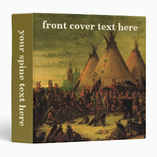 Sioux War Council (Tipis) by George Catlin Vinyl Binders