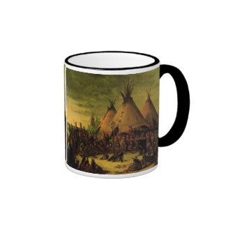 Sioux War Council Tipis by George Catlin Coffee Mugs