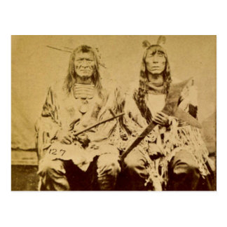 Sioux War Council Vintage Stereoview Postcard