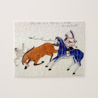 Sioux warrior Aintka Mato unhorsing rival Jigsaw Puzzle