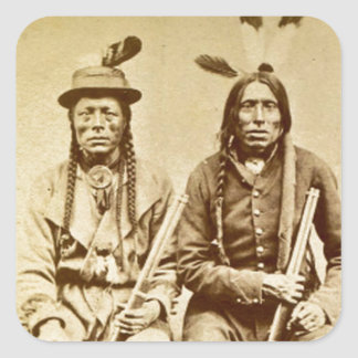 Sioux Warriors with Repeating Rifles Vintage Sticker