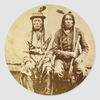 Sioux Warriors with Repeating Rifles Vintage Stickers