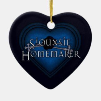 Siouxsie Homemaker Blue Knitting Ceramic Ornament