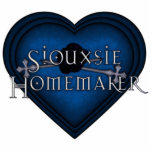 Siouxsie Homemaker Blue Knitting Heart Photo Cut Out