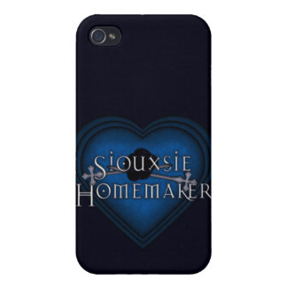 Siouxsie Homemaker Blue Knitting Cases For iPhone 4
