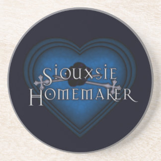 Siouxsie Homemaker Blue Knitting Sandstone Coaster