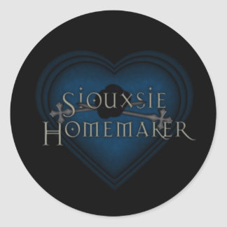 Siouxsie Homemaker Gothic Heart Classic Round Sticker