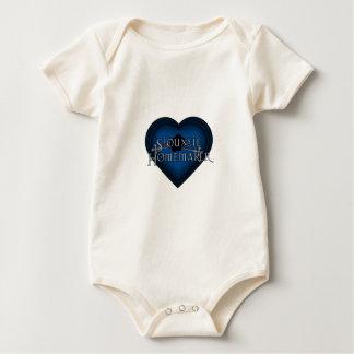 Siouxsie Homemaker Knitting (Blue) Baby Bodysuit