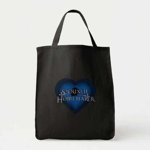 Siouxsie Homemaker Knitting (Blue) Canvas Bags