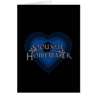 Siouxsie Homemaker Knitting (Blue) Card