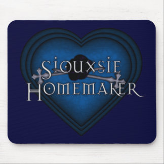Siouxsie Homemaker Knitting (Blue) Mouse Pad